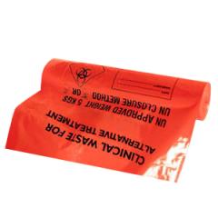 Orange Clinical Waste Sacks - Case of 7 x Rolls of 50