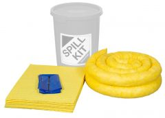 Refills for 35L Spill Kits General, Chemical, Oil in a Yellow Drum