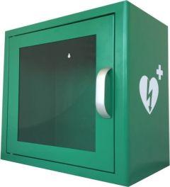 Green Metal Universal Indoor AED Cabinet with Alarm