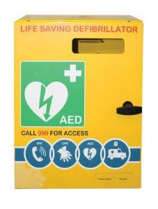 Outdoor Defibrillator Cabinet Stainless Steel Unlocked 3000 Series
