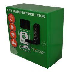 Outdoor Defibrillator Cabinet Mild Steel Locked 1000 Series- Green