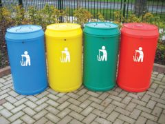 Drinks Can Litter Bin - 90 Litres (Various Colours)
