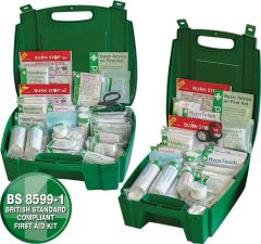 Evolution Workplace First Aid Kit in Small. Medium & Large Kits BS8599