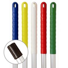 Exel Alloy Colour Coded Mop Head Handle. Push Fitting 137cm