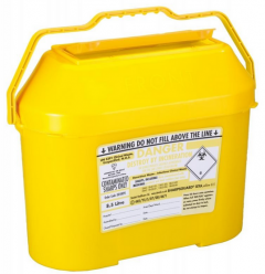 Yellow Lid Sharps Extra Bin 8.5 Litre (Case of 15)
