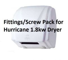Hurricane 1.8kw Automatic Hand Dryer in White (Fittings/Screw Pack)