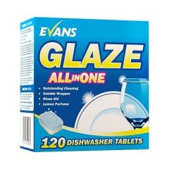 Evans Glaze All in One Dishwashing Tablets (Pack of 120)
