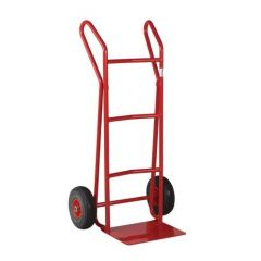 Flat Footiron Handtruck With Curved Crossbars Puncture Proof Wheels