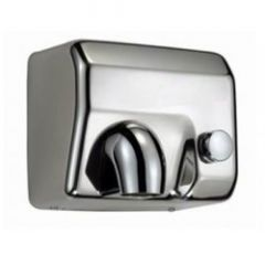 C21 Nozzle Push Button Hand Dryer in Stainless Steel