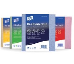 Hi Absorb Cloth (Pack of 5) Available in Blue, Red, Yellow & Green