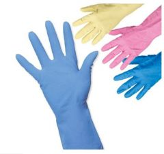 Household Rubber Gloves in Four Colours & Four Sizes