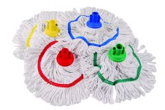 Hygiemix Washable Looped Mop Head with Colour Coded Socket & Band 250g