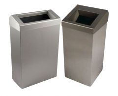 Synergise Wastebin in Brushed (Various Sizes)