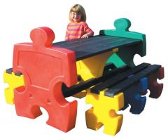 Jigsaw Table and 2 x Three Person Jigsaw Bench