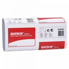Katrin Classic Narrow One Stop M2 Blue Hand Towels 2 Ply - 345034