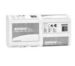 Katrin Plus One Stop Z-Fold White Hand Towels 2 Ply (Case of 21) - 345201