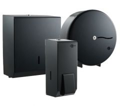 Graphite Grey Large Washroom Dispenser Bundle