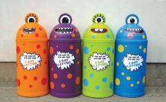 Small 42L Monster Litter Bin - Set of Four