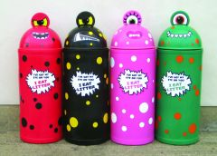 Large Monster Litter Bin - Set of Four