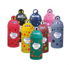 Monster 52L Litter Bin with Ground Fixing Bolts (Various Colours)