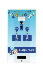 Electronic Baby Nappy Dual Vending Machine in Three Finishes