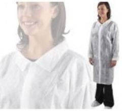 Non Woven Visitors White Coat Large Pack of 100