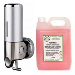 Nova Soap Dispenser & 5L Liquid Soap Bundle