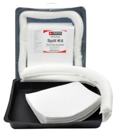 38 Litre Oil & Fuel Spill Kit with 52cm x 70cm Flexi Tray