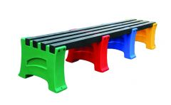Multicoloured Bench - 4 Persons