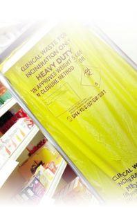 Yellow Heavy Duty Clinical Waste Sacks - Roll of 50 Sacks