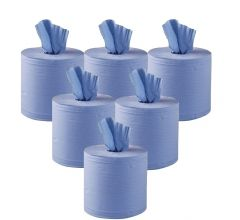 Standard Blue Centrefeed Rolls 2 Ply (Case of 6)