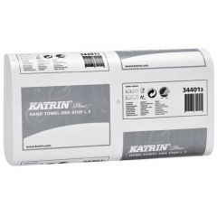 Katrin Plus One Stop L3 White Hand Towels 3 Ply (Case of 21) - 344013