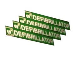 Defibrillator Panel Signs for Converted Telephone Box