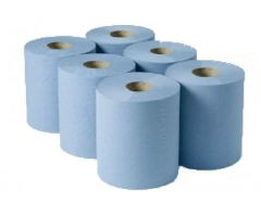 PHS Autocut Blue Hand Towel Roll 1 Ply Refill (Case of 6)