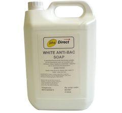 PHS White Anti-bacterial Liquid Soap 5 Litre