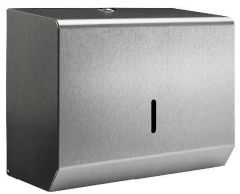 Brushed Stainless Small Hand Towel Dispenser