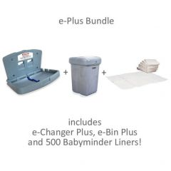 e-Changer Plus Bundle with Changing Table, Nappy Bin & Liners
