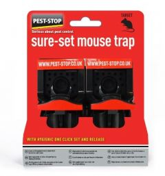 Sure-Set Plastic Mouse Trap Box of 2 Traps