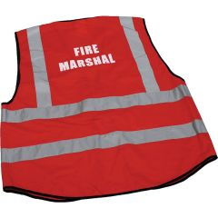 Fire Marshal Hi-Vis Red Large