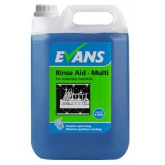 Evans Rinse Aid Multi for Auto Dish and Glasswash Machines (5 Litre)