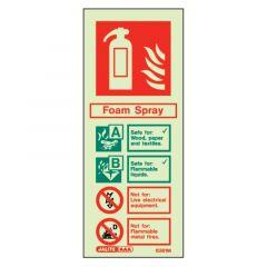Fire Extinguisher Foam Glow In The Dark Sign