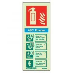 Fire Extinguisher ABC Powder Glow In The Dark Sign