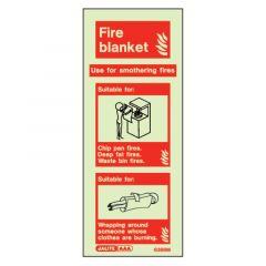 Fire Blanket Glow In The Dark Sign