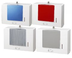 Sapphire Multi Fold Towel Dispenser White ABS 4 Panel Colours