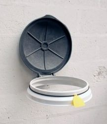 Wall Mounted Circular Sack Holder with Rubberised Holding Band