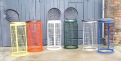 Wire Mesh Sack Holder Polyester Coated or Galvanised