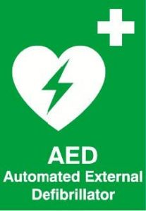 AED Location Sign - Rigid Plastic