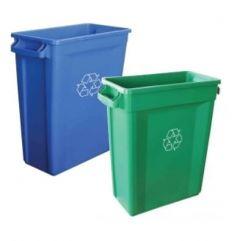 Slim Bin Recycling Logo Bins with Vent (60L or 87L)
