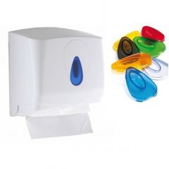 Modular Small Paper Hand Towel Dispenser w/ Choice of Coloured Window