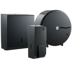 Graphite Grey Small Washroom Dispenser Bundle